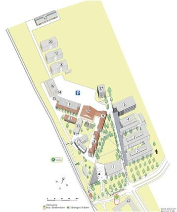 Lageplan der Technischen Fakultät